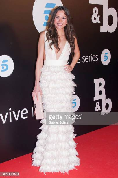 Cristina Alarcon attends the 'BB' Madrid Premiere at Cinema Capitol on February 17 2014 in Madrid Spain