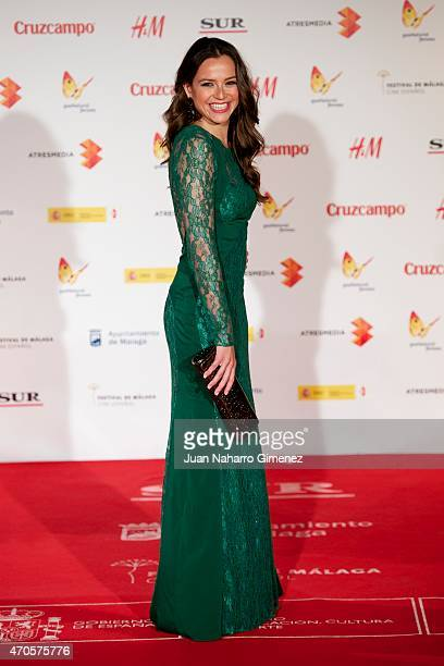 Cristina Alarcon attends the 'Requisitos Para Ser Una Persona Normal' premiere during the 18th Malaga Spanish Film Festival at Cervantes Theater on...