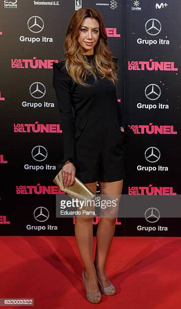 Cristina Alvis attends 'Los del Tunel' premiere at Capitol cinema on January 18 2017 in Madrid Spain