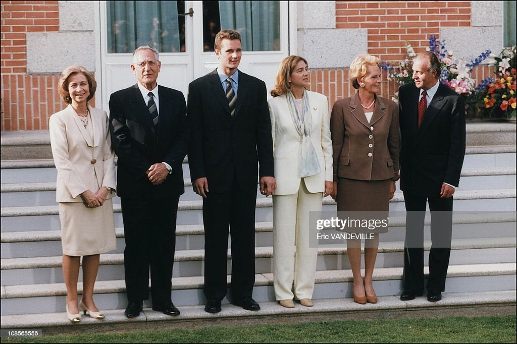 Engagement of Christina of Spain And Inaki Urdangarin in Madrid, Spain on May 3rd, 1997. : Fotografía de noticias