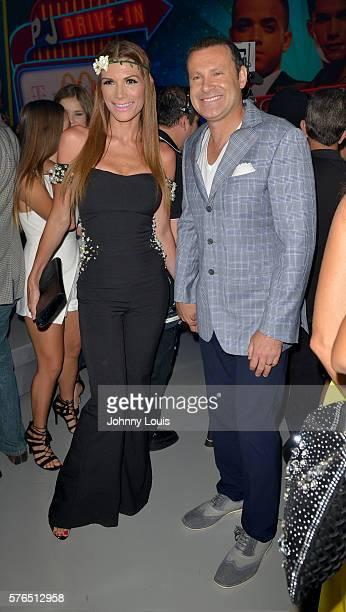 Cristina Bernal and Alan Tacher arrive at Univision Premios Juventud Awards Youth Awards at Bank United Center on July 14 2016 in Miami Florida