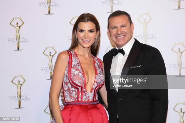 Cristina Bernal and Alan Tacher attend Premios Tv y Novelas 2017 at Televisa San Angel on March 26 2017 in Mexico City Mexico
