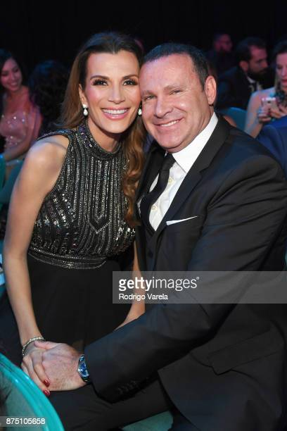 Cristina Bernal and Alan Tacher attend The 18th Annual Latin Grammy Awards at MGM Grand Garden Arena on November 16 2017 in Las Vegas Nevada