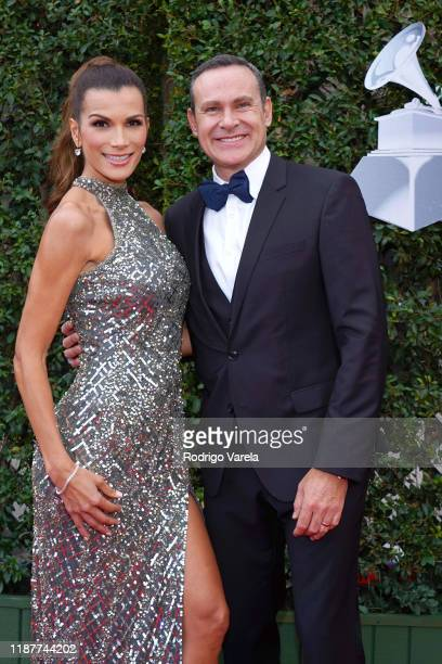 Cristina Bernal and Alan Tacher attend the 20th annual Latin GRAMMY Awards at MGM Grand Garden Arena on November 14 2019 in Las Vegas Nevada