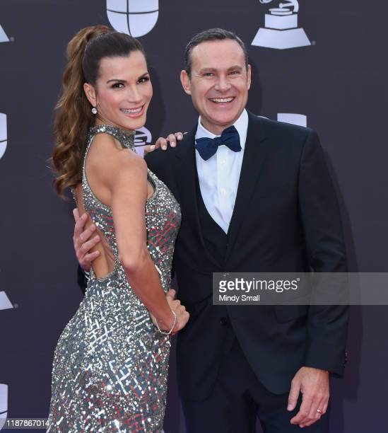 Cristina Bernal and Alan Tacher attend the 20th Annual Latin Grammy Awards at the MGM Grand Garden Arena on November 14 2019 in Las Vegas Nevada