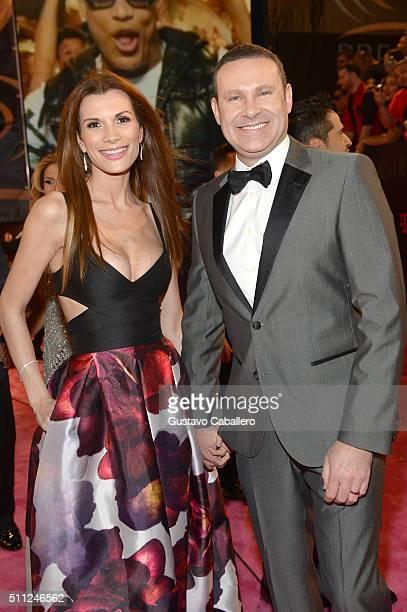 Cristina Bernal and Alan Tacher attend Univision's 28th Edition of Premio Lo Nuestro A La Musica Latina on February 18 2016 in Miami Florida