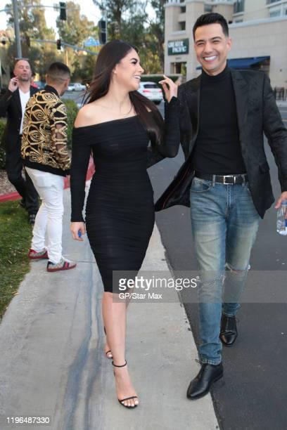 Cristina Bernal and Luis Coronel are seen on January 25 2020 in Los Angeles California