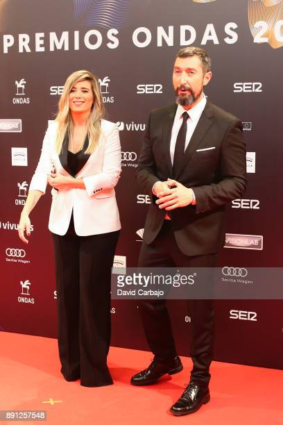Cristina Bosca and Toni Garrido attend the 63th Ondas Gala Awards 2016 at the FIBES on December 12 2017 in Seville Spain