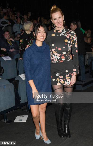 Cristina Brondo and Alejandra Prat attend the Wom Now show during the Barcelona 080 Fashion Week Autumn/Winter 2017 at the Teatre Nacional de...