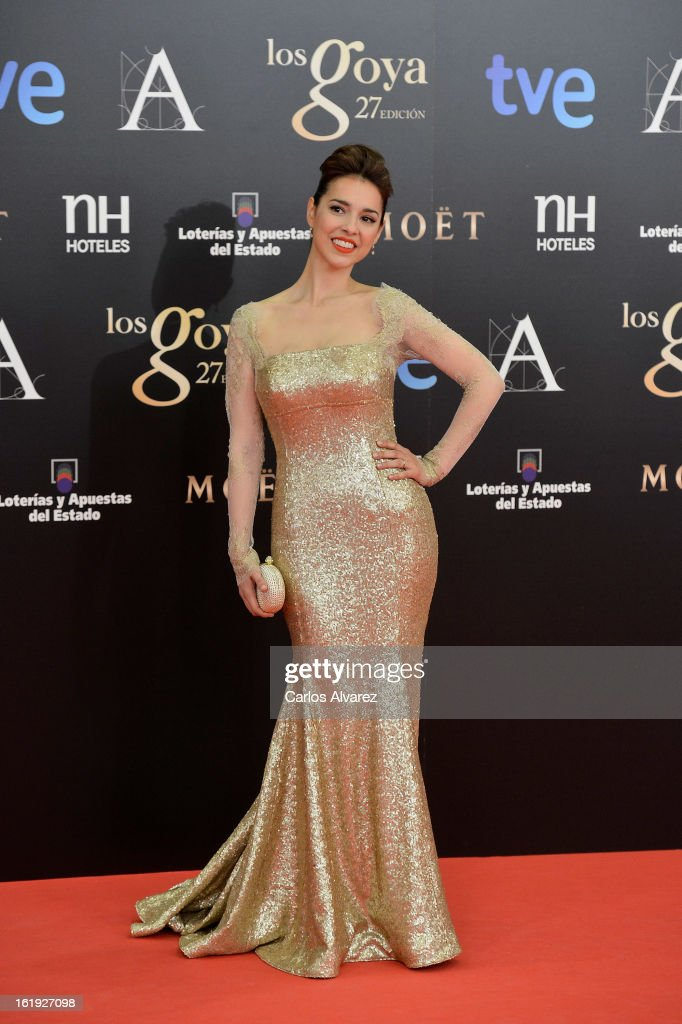 Cristina Brondo attends Goya Cinema Awards 2013 at Centro de Congresos Principe Felipe on February 17, 2013 in Madrid, Spain.