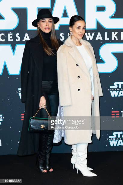 Cristina Buccino and Donatella Buccino attend the special presentation of the movie Star Wars L'Ascesa Di Skywalker on December 17 2019 in Milan Italy
