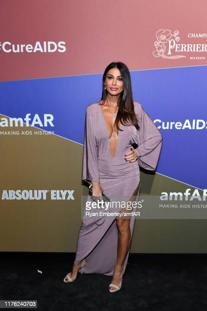 Cristina Buccino attend the amfAR Gala Milano 2019 at Palazzo Mezzanotte on September 21 2019 in Milan Italy