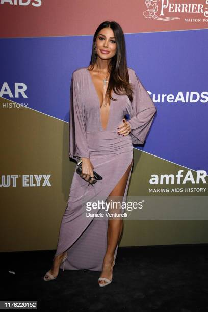 Cristina Buccino attends the amfAR Gala Milano 2019 at Palazzo Mezzanotte on September 21 2019 in Milan Italy