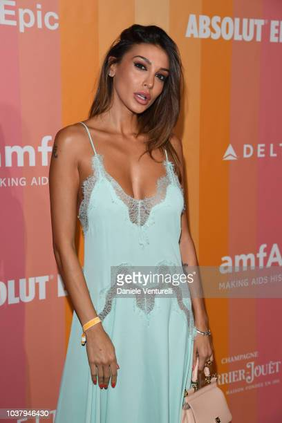 Cristina Buccino walks the red carpet ahead of amfAR Gala at La Permanente on September 22 2018 in Milan Italy