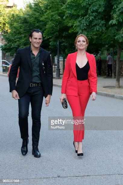 Cristina Castaño and Asier Etxeandia attends a fund raiser event for Spanish NGO Proactiva Open Arms dedicated to sea rescue of migrants in Madrid...