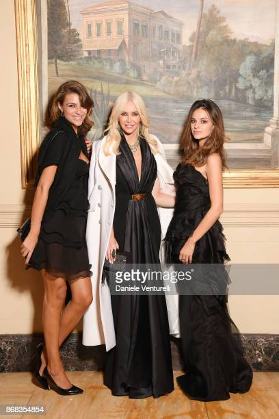 Cristina Chiabotto Amanda Cronin and Katy Saunders attend Telethon Gala during the 12th Rome Film Fest at Villa Miani on October 30 2017 in Rome Italy