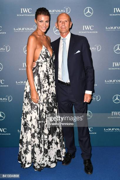 Cristina Chiabotto and Beppe Ambrosini attend during the Laureus F1 Charity Night at Teatro Vetra on August 31 2017 in Milan Italy