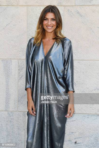 Cristina Chiabotto arrives at the Alberta Ferretti show during Milan Men's Fashion Week Spring/Summer 2019 on June 15, 2018 in Milan, Italy.