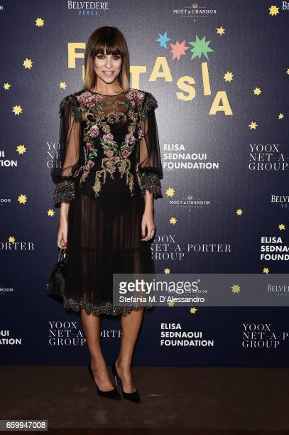 Cristina Chiabotto attends Elisa Sednaoui Foundation and Yoox Net a Porter Event on March 28 2017 in Milan Italy