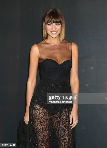Cristina Chiabotto attends 'La Bella E La Bestia' premiere on March 8 2017 in Milan Italy
