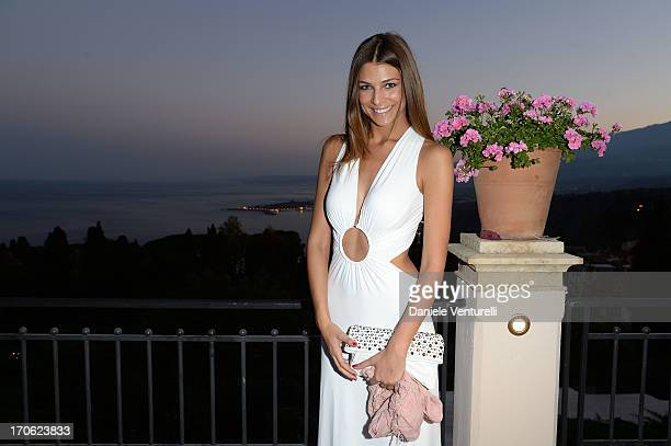 Cristina Chiabotto attends Opening Ceremony and 'Man of Steel Premiere' during the Taormina Filmfest 2013 at Teatro Antico on June 15 2013 in...