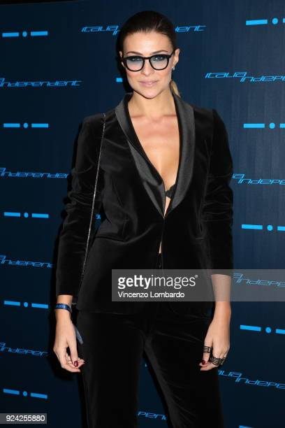 Cristina Chiabotto attends Starlight - An event by Italia Independent on February 25, 2018 in Milan, Italy.