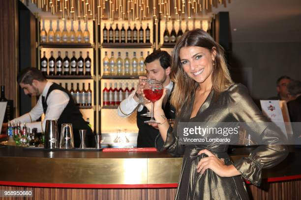Cristina Chiabotto attends Terrazza Martini Milano Grand Opening on May 15, 2018 in Milan, Italy.