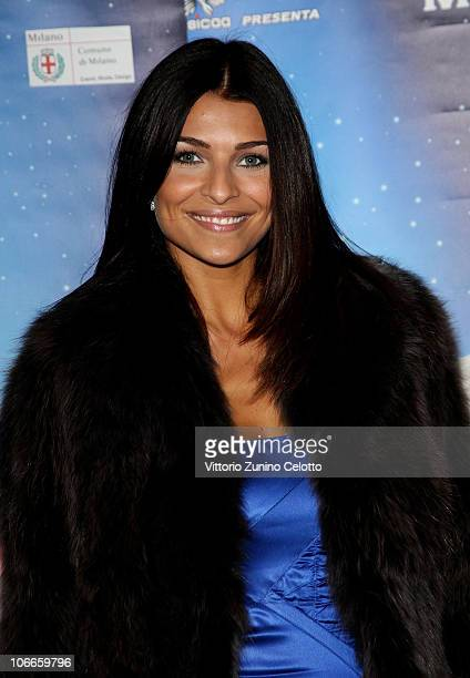 Cristina Chiabotto attends the Aladin The Musical Red Carpet held at Teatro Nuovo on November 9 2010 in Milan Italy