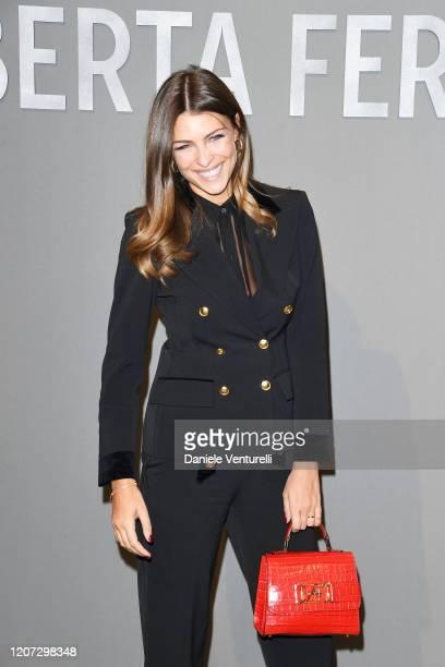 Cristina Chiabotto attends the Alberta Ferretti fashion show on February 19, 2020 in Milan, Italy.