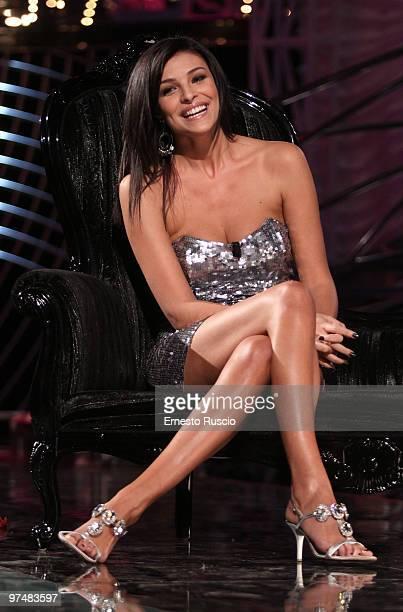 Cristina Chiabotto attends the 'Barbareschi Sciok' Italian TV Show at La7 Studios on March 5 2010 in Rome Italy
