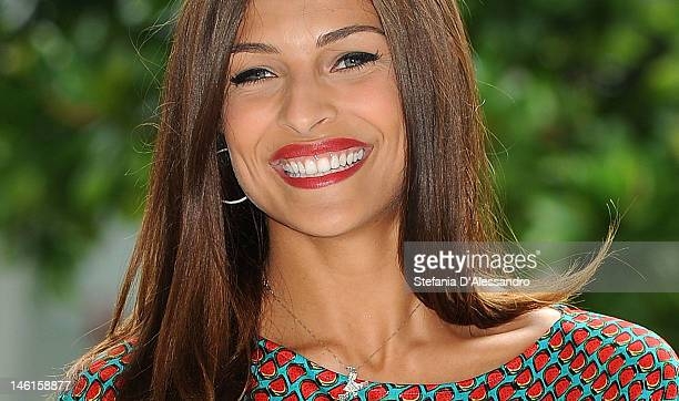 Cristina Chiabotto attends the 'Comedy Tour Risollevante' photocall on June 11, 2012 in Milan, Italy.