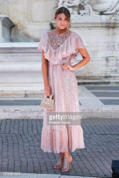 Cristina Chiabotto attends the Laura Biagiotti Fashion Show at Piazza del Campidoglio on September 13, 2020 in Rome, Italy.