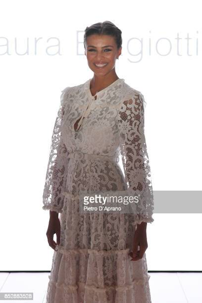 Cristina Chiabotto attends the Laura Biagiotti show during Milan Fashion Week Spring/Summer 2018 on September 24 2017 in Milan Italy