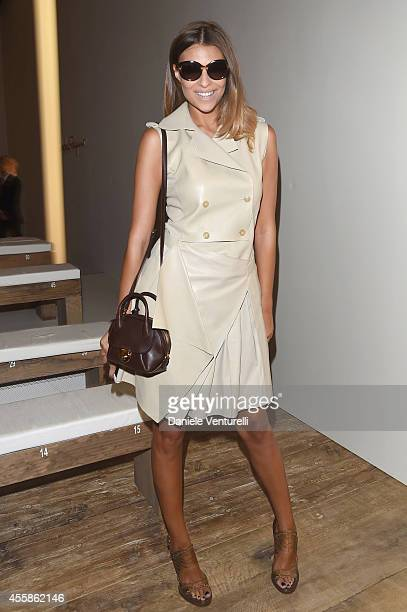 Cristina Chiabotto attends the Salvatore Ferragamo show during the Milan Fashion Week Womenswear Spring/Summer 2015 on September 21 2014 in Milan...