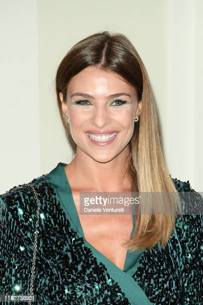 Cristina Chiabotto attends the Telethon dinner during the 14th Rome Film Festival on October 22 2019 in Rome Italy