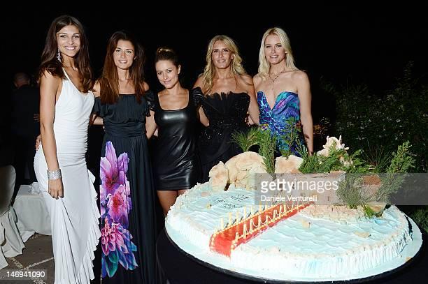 Cristina Chiabotto Daniela Ferolla Lola Ponce Tiziana Rocca and Valeria Mazza attends the 'Opening Ceremony Gala Dinner' during the 58th Taormina...