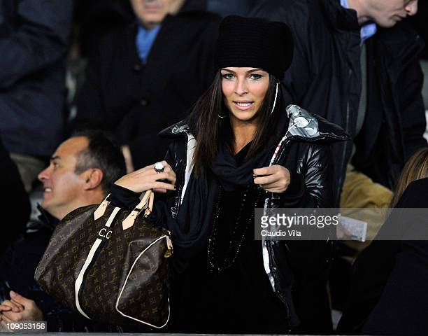 Cristina Chiabotto during the Serie A match between Juventus FC and FC Internazionale Milano at Olimpico Stadium on February 13, 2011 in Turin, Italy.
