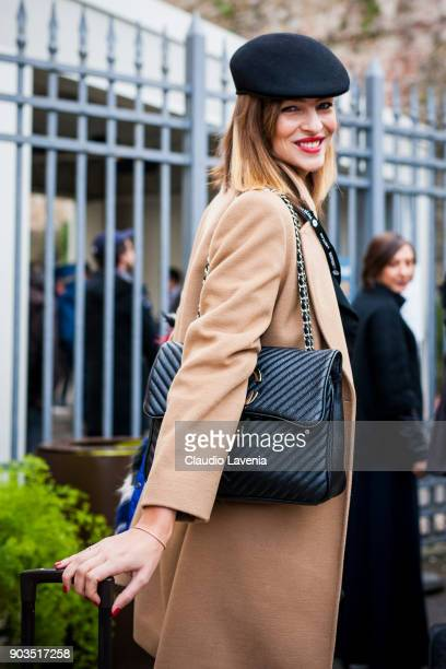 Cristina Chiabotto is seen during the 93 Pitti Immagine Uomo at Fortezza Da Basso on January 10 2018 in Florence Italy