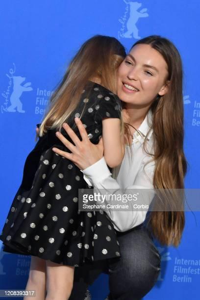 Cristina Chiriac and daughter Anna Ferrara attend the Siberia photo call during the 70th Berlinale International Film Festival Berlin at Grand Hyatt...
