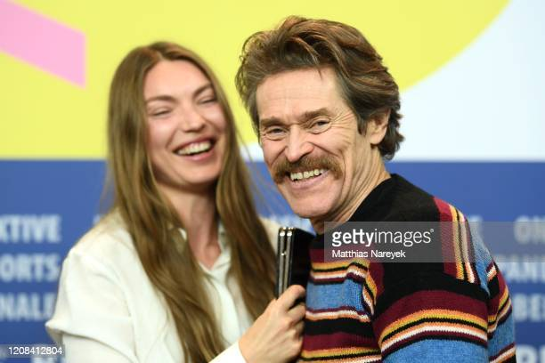 Cristina Chiriac and Willem Dafoe are seem at the Siberia press conference during the 70th Berlinale International Film Festival Berlin at Grand...