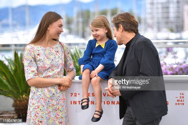 Cristina Chiriac Anna Ferrara and Willem Dafoe attend the photocall for Tommaso during the 72nd annual Cannes Film Festival on May 20 2019 in Cannes...