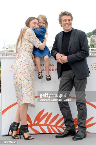 Cristina Chiriac Anna Ferrara Willem Dafoe attend the photocall for Tommaso during the 72nd annual Cannes Film Festival on May 20 2019 in Cannes...