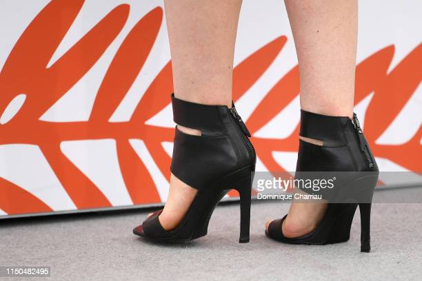 Cristina Chiriac fashion detail attends the photocall for Tommaso during the 72nd annual Cannes Film Festival on May 20 2019 in Cannes France