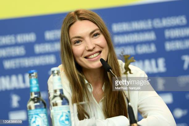 Cristina Chiriac is seen at the Siberia press conference during the 70th Berlinale International Film Festival Berlin at Grand Hyatt Hotel on...