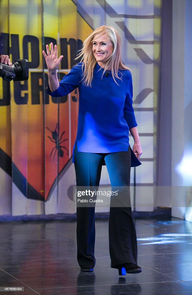Cristina Cifuentes attends 'El Hormiguero' Tv Show at Vertice Studio on March 26, 2015 in Madrid, Spain.