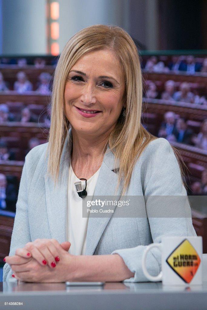 Cristina Cifuentes Attends 'El Hormiguero' Tv Show at Vertice Studio on March 8, 2016 in Madrid, Spain.
