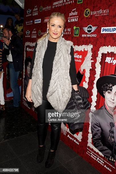 Cristina Cifuentes attends Miguel de Molina al Desnudo premiere at the Santa Isabel Theater on November 4 2014 in Madrid Spain