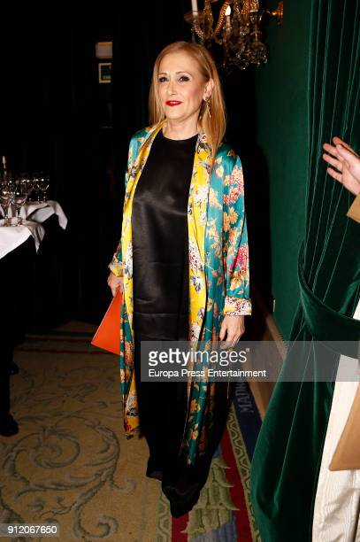 Cristina Cifuentes attends the front row of Palomo Spain show during Mercedes Benz Fashion Week Madrid Autumn / Winter 2018 on January 28 2018 in...