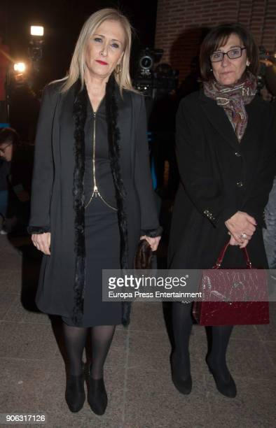 Cristina Cifuentes attends the Funeral Service for Diana Quer at Santa Maria de Cana church on January 17 2018 in Madrid Spain The 18yearsold girl...