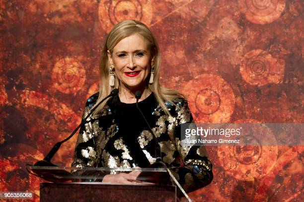 Cristina Cifuentes attends the Goya cinema awards candidates 2018 meeting at Casa de Correos on January 15 2018 in Madrid Spain